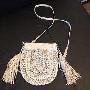 Cute white stud purse
